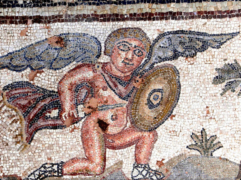 Mosaike in Paphos( © Wolfgang Sauber CC BY-SA 3.0 (http://bto.de/CCBYSA3))